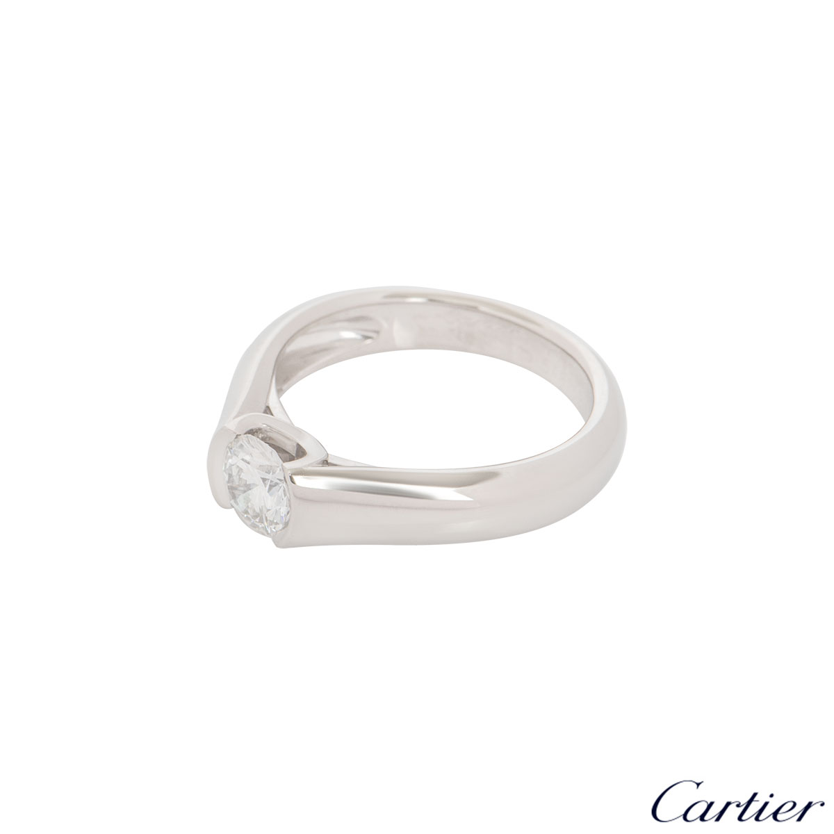 C de Cartier Platinum Diamond Ring 0.54ct G/VS1